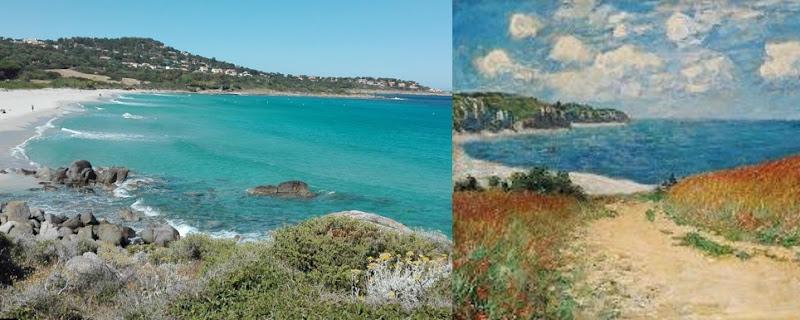 Cammino al mare tra campi di grano a Pouville - C. Monet di Lory67