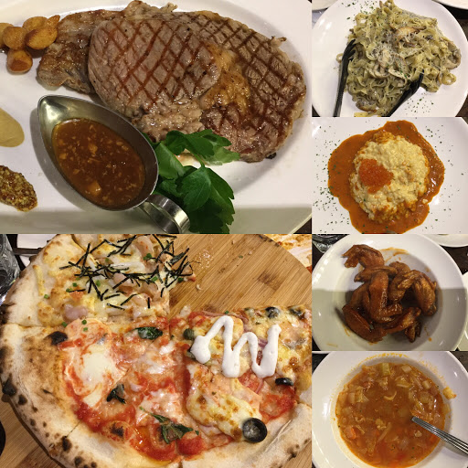餐點,服務,環境都很推,松露奶油義大利最驚豔,牛排CP值不高。
