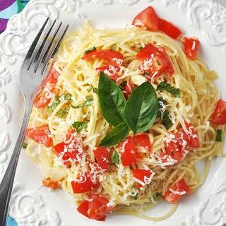Bruschetta Spaghetti.
