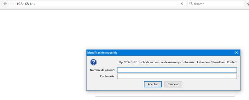 Acceso al router