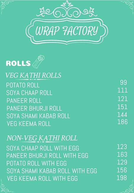 Wrap Factory menu 1