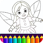 Girls Coloring Game icon