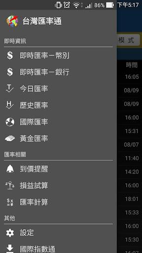 台湾汇率通—到价提醒 汇率换算 历史汇率 损益试算