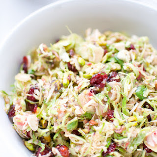 Brussels Sprouts Salad With Cranberry Orange Vinaigrette