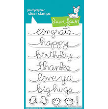 Lawn Fawn Clear Stamps 4X6 - Big Scripty Words