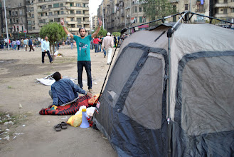 Photo: Another tent in Tahrir Square...