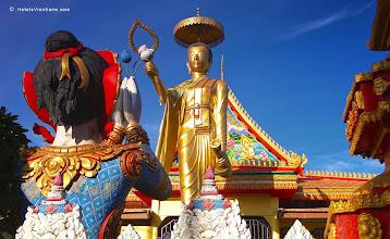 Photo: Ornate Buddhist statues