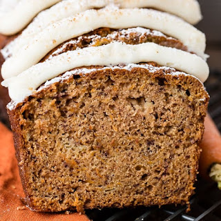 Carrot Cake Banana Bread with Cream Cheese Frosting Recipe