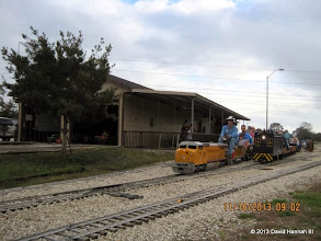 Photo: Norman Beveridge on the first train of the day.    2013-1116 DH3