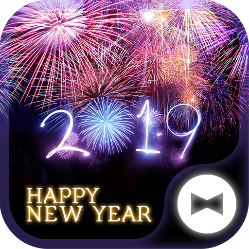 Beautiful Wallpaper Happy New Year 2019 Theme Icon