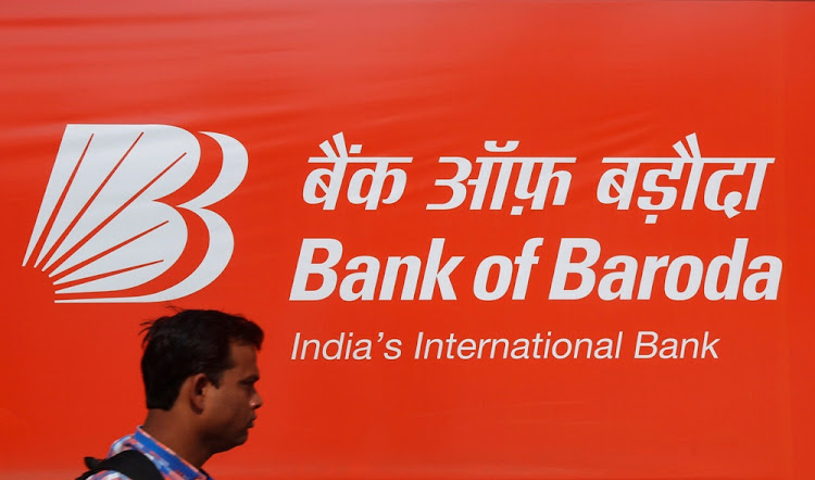 A Bank of Baroda advertisement in Mumbai, India. Picture: REUTERS