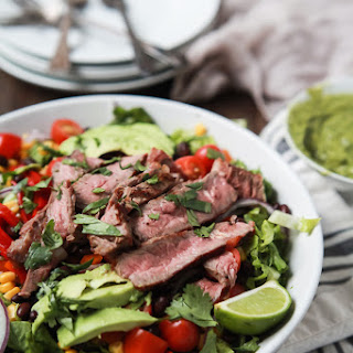 Southwestern Steak Salad with Cilantro Avocado Dressing