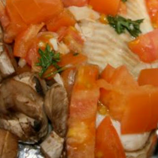 Instant Pot Tilapia with Spinach, Mushrooms, Tomatoes and Herbs Recipe