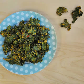 Vegan Nacho Kale Chips.