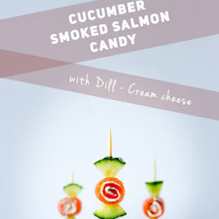 Cucumber Smoked Salmon Appetizer Candy.