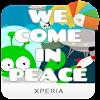 Xperia™ We Come in Peace Theme APK