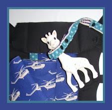 Photo: *Duke* customized Beco Gemini custom Toy Tether custom Strap Wraps