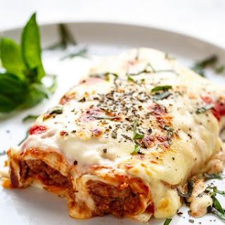 Easy Lasagna Stuffed Burritos.