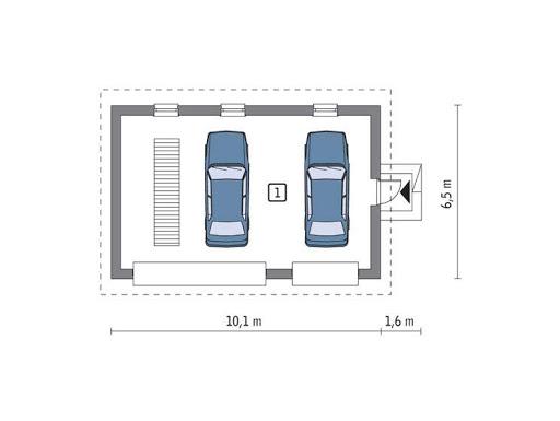 G55 - Rzut garażu