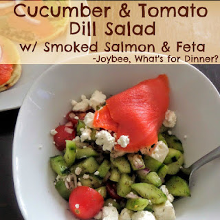 Cucumber and Tomato Dill Salad.