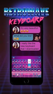 Keyboard - Retrowave New Theme - náhled