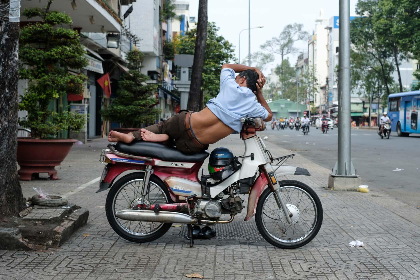 Reclining xe ôm, Ho Chi Minh City, Vietnam