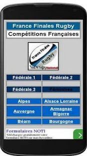France Finales Rugby app- screenshot thumbnail