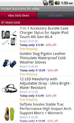 Pocket Auctions for eBay screenshot 5