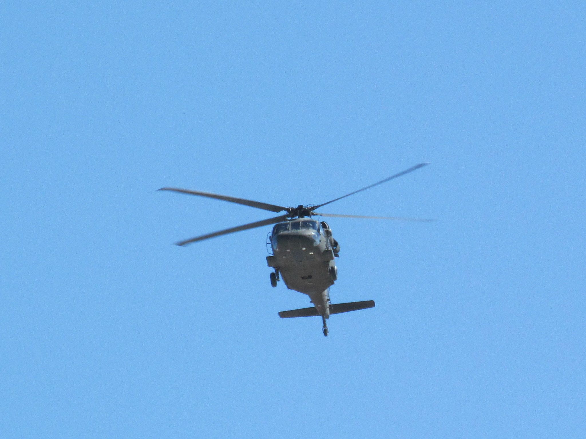 Photo: Military heli flying low over the wilderness