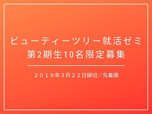 【2019年3月22日応募締切】人気ブランドの内定を目指す就活ゼミ第2期生を10名限定募集!