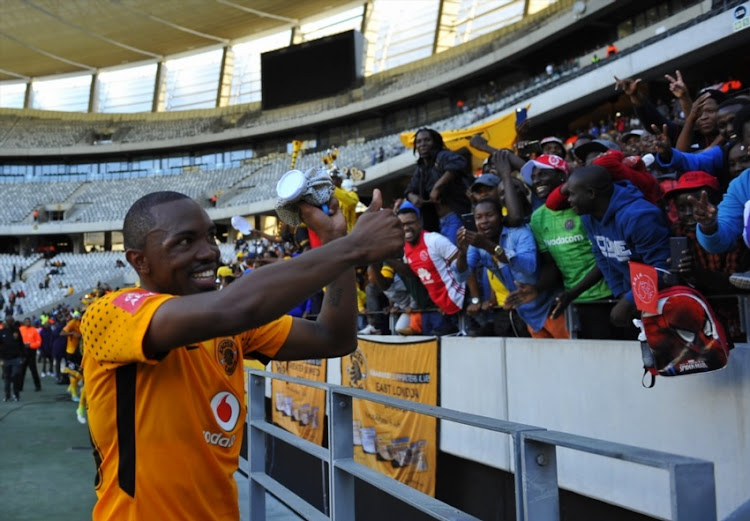 Bernard Parker of Kaizer Chiefs greets the fans after the Absa Premiership match between Ajax Cape Town and Kaizer Chiefs at Cape Town Stadium on May 12, 2018 in Cape Town, South Africa.