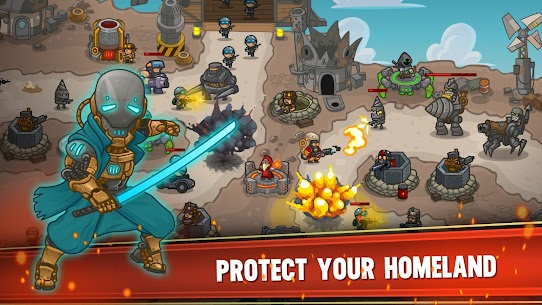 Steampunk Defense: tower defense MOD (unlimited gold/chips) 1