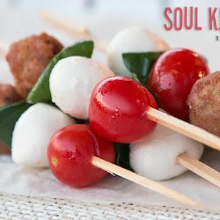 Mini Turkey Meatballs With Vegetables On Stick