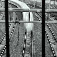 Treno in curva di