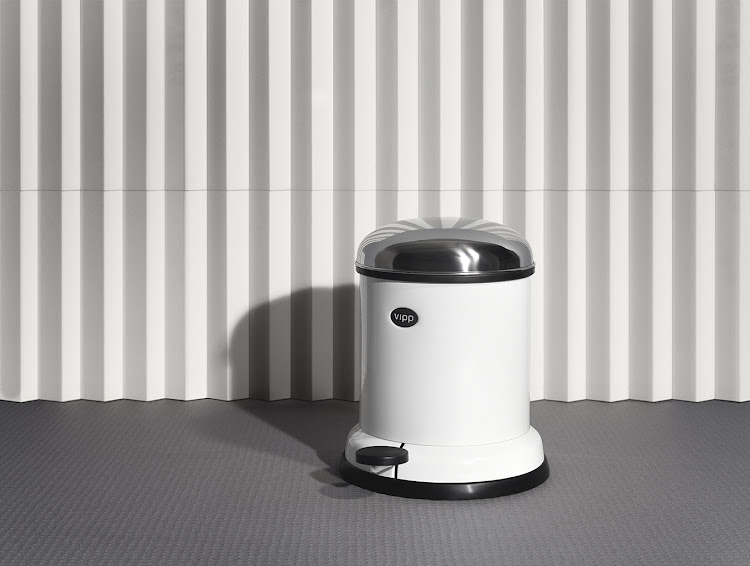 The iconic pedal bin from Vipp.