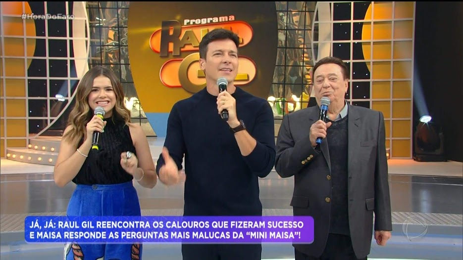 Hora do Faro recria palco do programa Raul gil