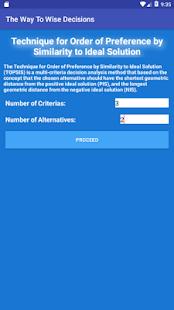 AHP & TOPSIS Decision Maker - náhled