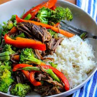 Veggie-Packed Slow Cooker Asian Beef and Broccoli.