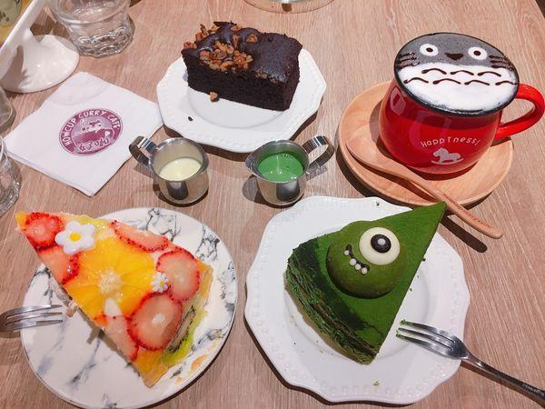 好咖Howcup Curry Cafe 中原必吃!大眼仔抹茶流沙千層、水果富士山,好吃又好看