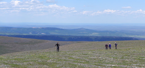 Photo: John, Greg, Felicia, Jason on East Flattop Mtn.