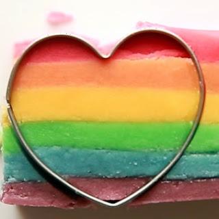 Rainbow Heart Cookies