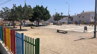 Plaza que se va rehabilitar en Los Almendros