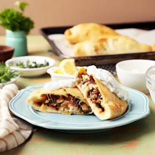 Mediterranean Chicken Calzones.