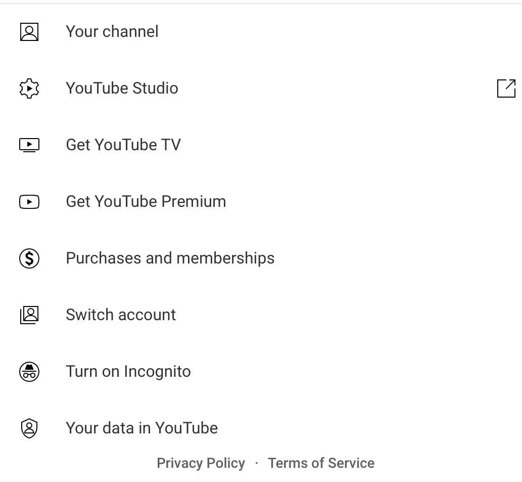 YouTube account module