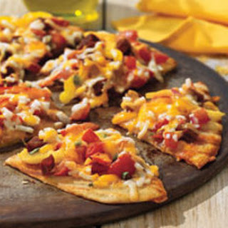 Grilled Flatbread with Chorizo and Peppers.