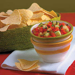 Hawaiian Papaya and Cucumber Salsa