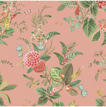 Pip 2020 Floris Tapet med blommor - Rosa