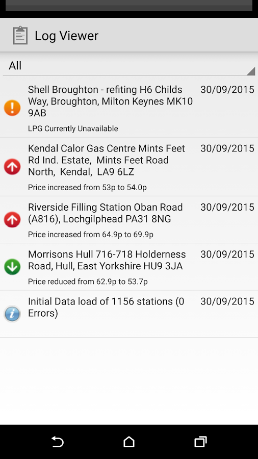 FillLPG - LPG  Station Finder- screenshot