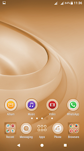Swirls Brown XP Theme - náhled