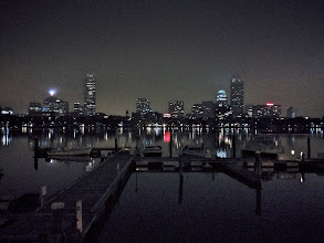 Photo: Boston I've seen many impressive iPhone photos. This is not one. I'm trying to learn how to get better results from the device, and learn its limits. I figured the small sensor wouldn't handle low light, but with a little TLC I salvaged something I'm not too embarrassed to add to my #365project curated by +Susan Porter and +Simon Kitcher.  This was taken from Memorial Drive in Cambridge. The Charles River Yacht Club is in the foreground.